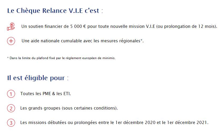 Cheque V.I.E